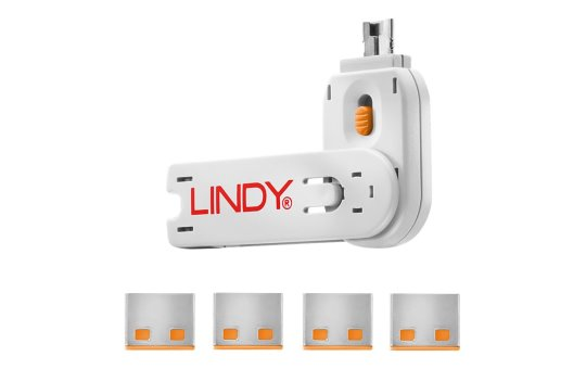 Lindy USB Port Blocker - USB-Portblocker (Packung mit 4)