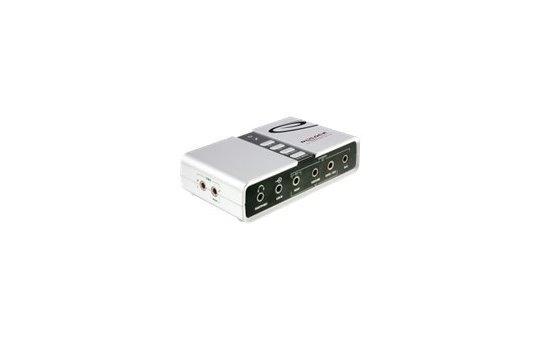 Delock USB Sound Box 7.1 - 7.1 channels - USB - Win 2000/Server-2003/XP/XP-64/Vista/Vista-64/7/7-64 - USB - 48 kHz