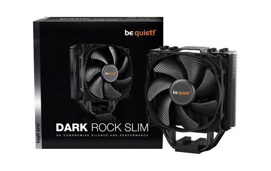 Be Quiet! Dark Rock Slim - Prozessor-Luftkühler - (für: LGA1156, AM2, AM2+, LGA1366, AM3, LGA1155, AM3+, FM1, FM2, LGA1150, FM2+, LGA1151, LGA2011-3 (Square ILM)