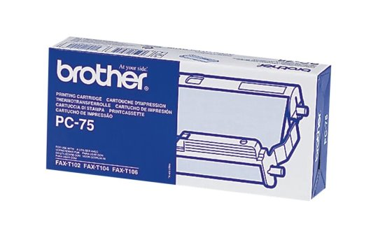 Brother PC75 - Black - print ribbon cassette