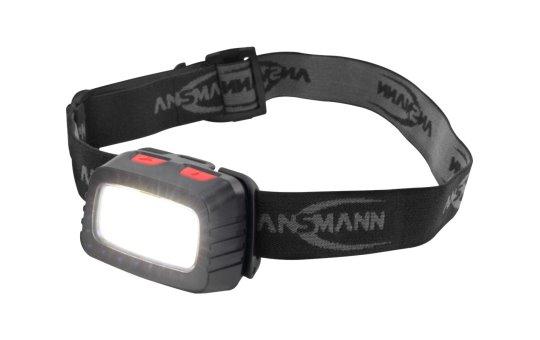 Ansmann HD200B - Stirnband-Taschenlampe - Schwarz - Grau - Acrylnitril-Butadien-Styrol (ABS) - IP44 - LED - 1 Lampen