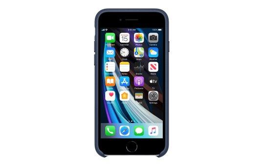 Apple Hintere Abdeckung für Mobiltelefon - Leder - Mitternachtsblau - für iPhone 7, 8, SE (2. Generation)