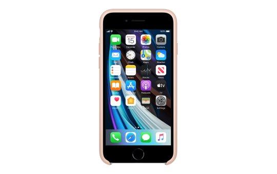 Apple Hintere Abdeckung für Mobiltelefon - Silikon - rosa sandfarben - für iPhone 7, 8, SE (2. Generation)