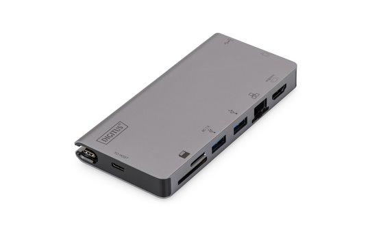 DIGITUS USB Type-C Multiport Travel Dock, 8-Port