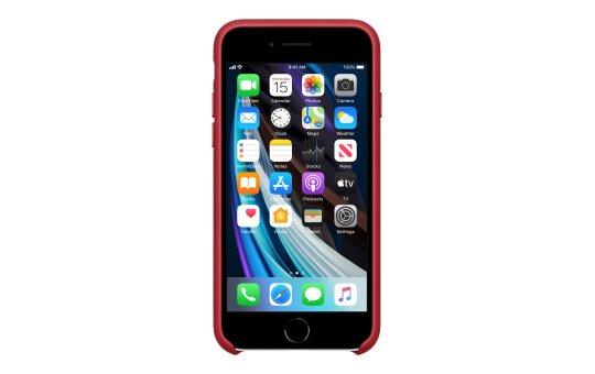 Apple (PRODUCT) RED - Hintere Abdeckung für Mobiltelefon - Leder - Rot - für iPhone 7, 8, SE (2. Generation)