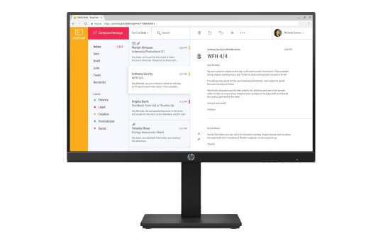 """HP P24h G4 - LED monitor - 24"""" (23.8"""" viewable)"""