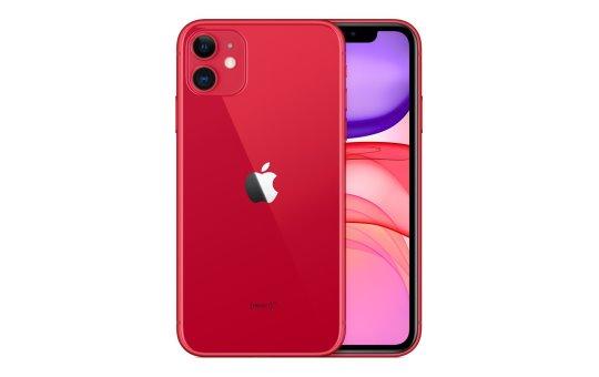 "Apple iPhone 11 - (PRODUCT) RED - Smartphone - Dual-SIM - 4G Gigabit Class LTE - 128 GB - 6.1"" - 1792 x 828 Pixel (326 ppi (Pixel pro Zoll))"