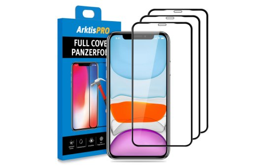 ARKTIS Pro iPhone 11 Full Cover Panzerglasfolie