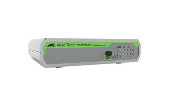 Allied Telesis FS710/5E - Unmanaged - Fast Ethernet (10/100) - Full duplex - Wall mountable