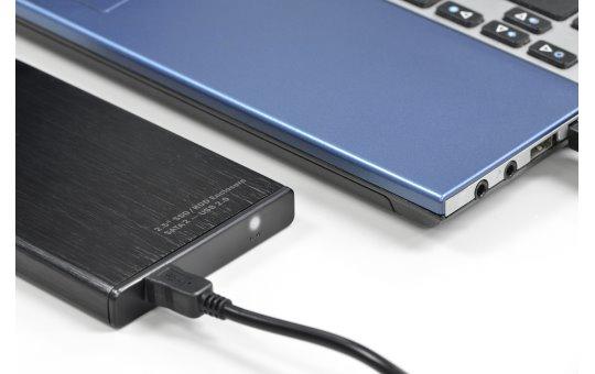 DIGITUS 2,5 SDD/HDD-Gehäuse, SATA I-II - USB 2.0